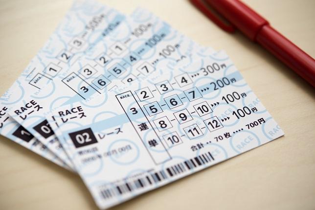■撮影用に作成した小道具の投票券です。イメージ写真です。本物ではありません。
