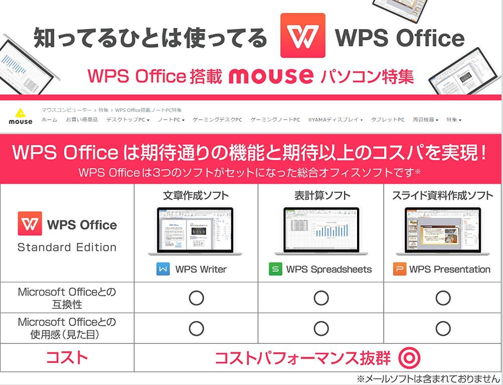 マウスコンピューターCP画像