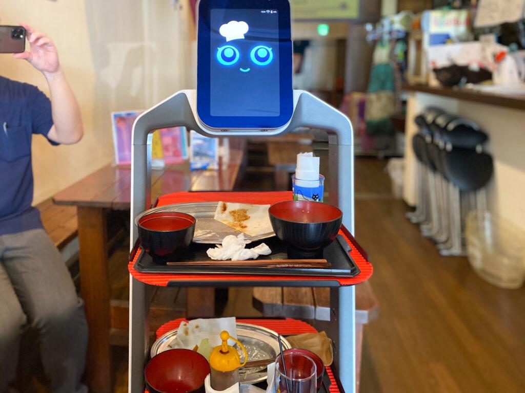 道楽やねこん家で働くロボット